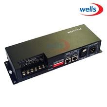 цена на 27CH dmx512 decoder, controller,LED drive,with case, 9 group RGB each CH max 3A,DC12-24V output,for LED, XLR & RJ45 & 3P