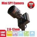 Vanxse cctv sony effio 1000tvl 960 h 2.8-12mm varifocal lente zoom câmera de segurança d/n mini câmera de vigilância