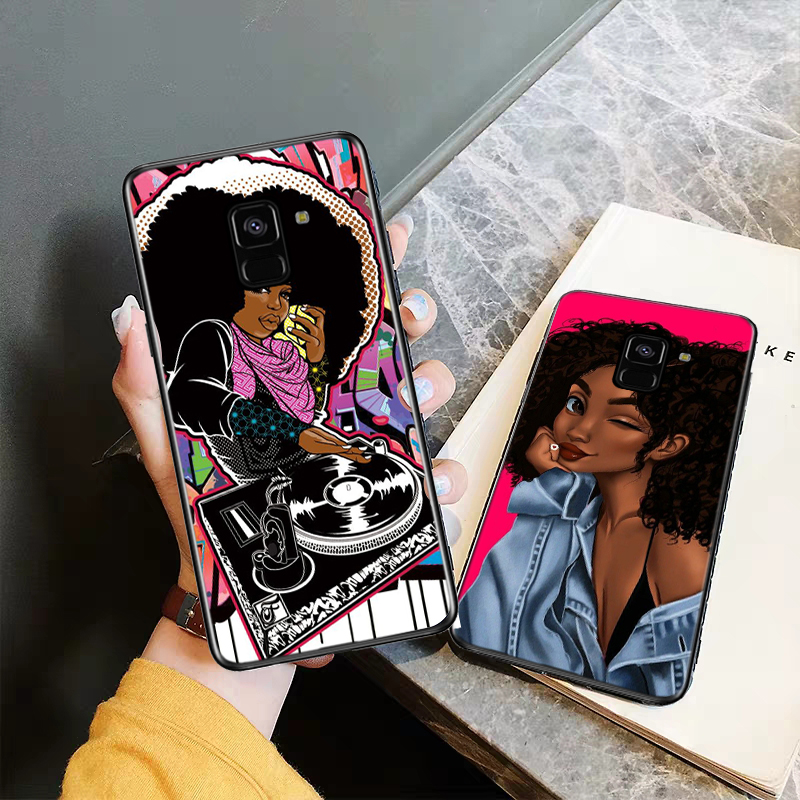 Lavaza Fashion girl Silicone Case for Samsung A3 A5 A6 Plus A7 A8 A9 A10 A30 A40 A50 A70 J6 A10S A30S A50S in Half wrapped Cases from Cellphones Telecommunications