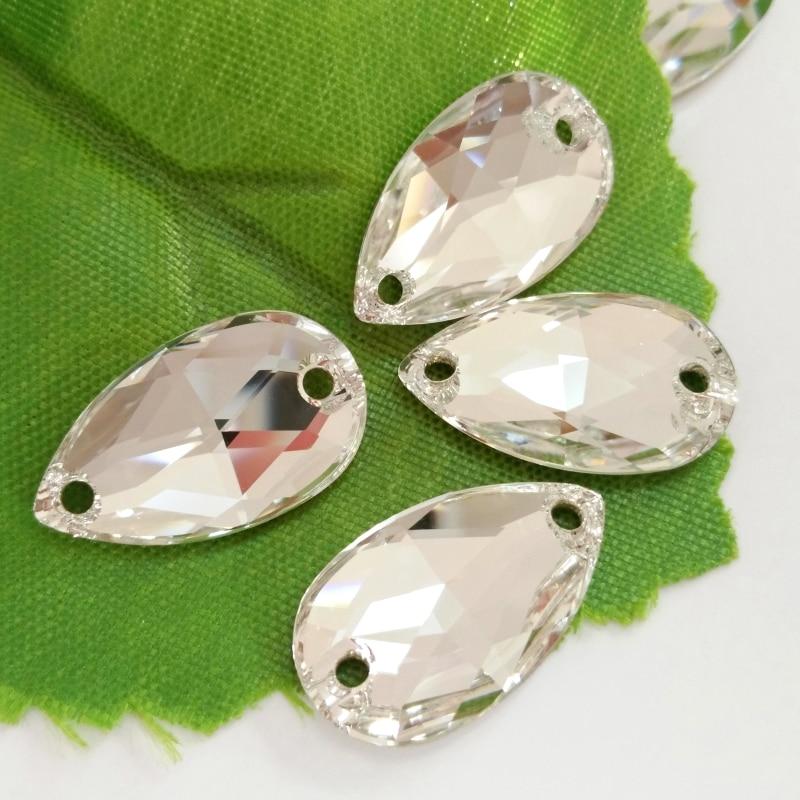12 x25mm bâton sur cœur strass perle autocollante AB Clear Rhinestone Gems