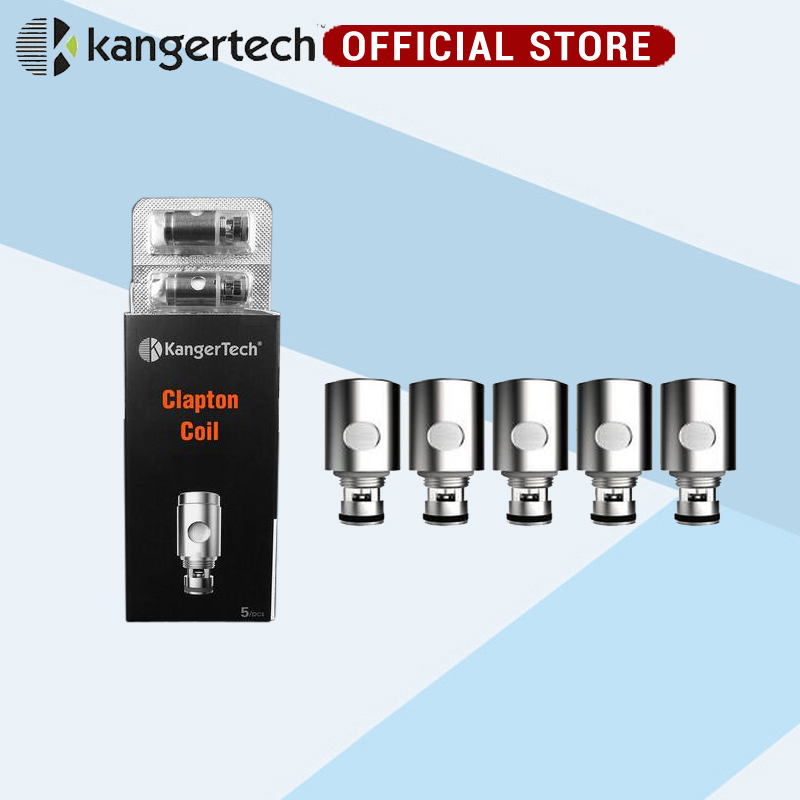 Kanger Clapton Coil 0.5ohm Resistance Stainless Steel Case Kanthal wire Janpan Cotton for Subtank /TOPTANK /NEBOX