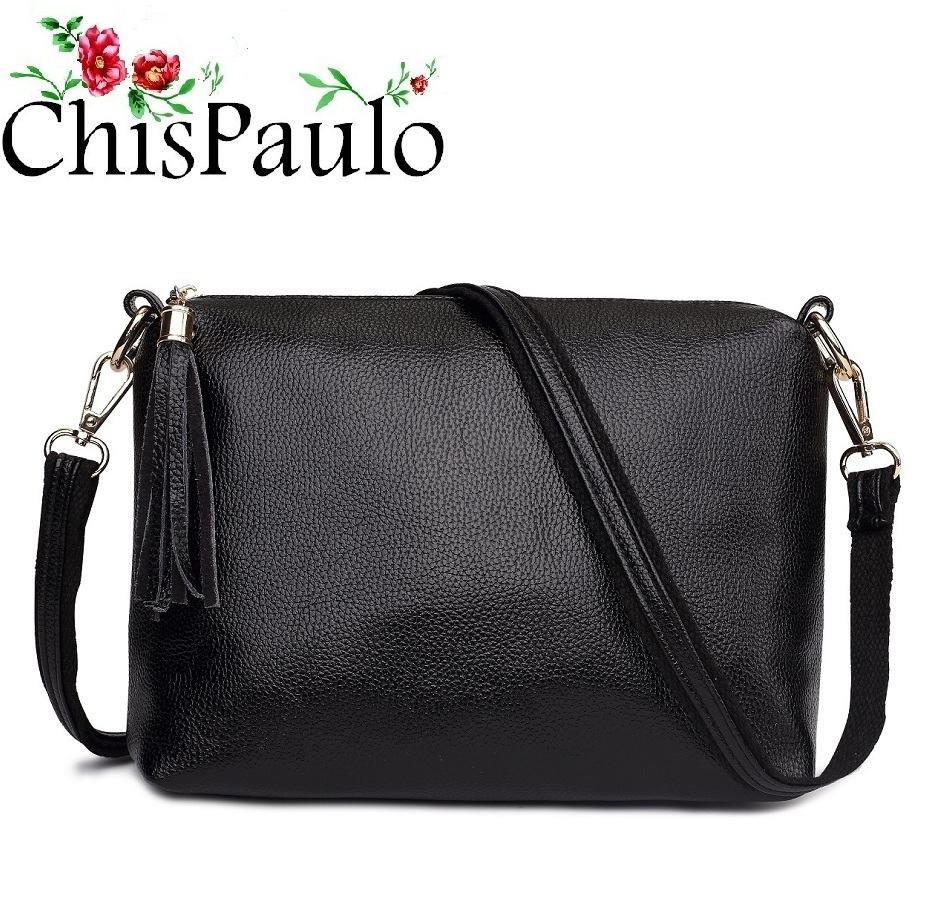 Famous Brands Designer Women's Handbags High Quality Tassel Genuine Leather Bags For Women Vintage Messenger Shoulder Bags X59