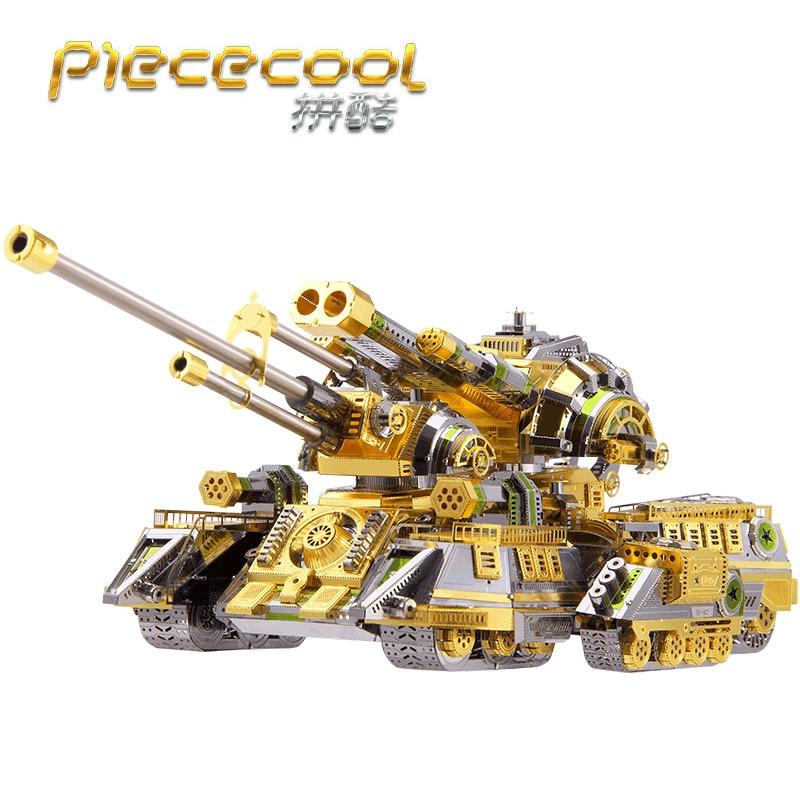 Piececool 3D Métal Puzzle Figure Jouet SKYNET ARAIGNÉE SUPER-LOURD RÉSERVOIR Éducatifs Puzzle 3D Modèles Cadeau Puzzle Jouets Pour Enfants
