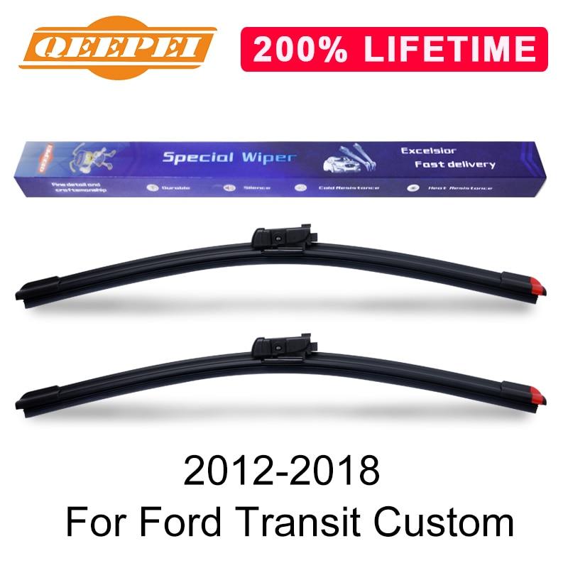 QEEPEI Replace Wiper Refill Windscreen Wiper Blades For Ford Transit Custom 2012-2018 Windshield Rubber Car Accessorie