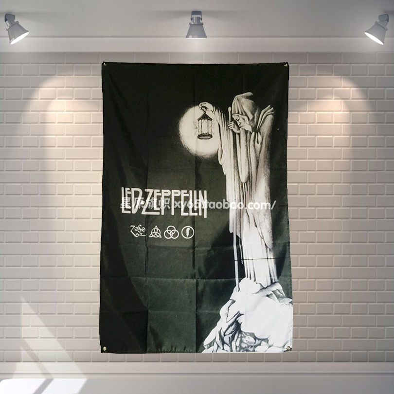 Flags, Banners & Accessories Ambitious led Zeppelin Rock Band Poster Banner 4 Holes Hanging Flags 56x36 Inches Games Billiards Hall Decor Wall Background Home & Garden