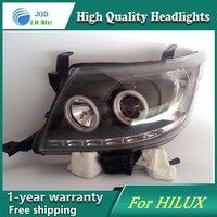 Высокое качество набор для автостайлинга для Toyota Hilux Vigo 2004 2010 фары, светодиодные фары DRL Объектив двойной луч HID Xenon