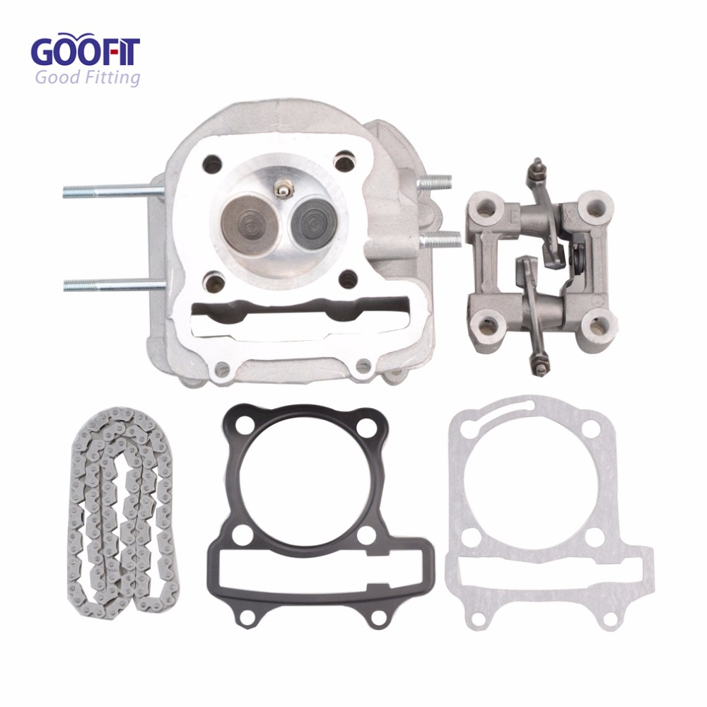 GOOFIT 63mm GY6 150cc 180cc 200cc 250cc Engine Head Assembly 94 Chain Links for ATV Off-road Vehicle 2 5m car rubber carbon stickers for skoda fabia octavia front lip bumper decoration for vw auto exterior stickers for toyota