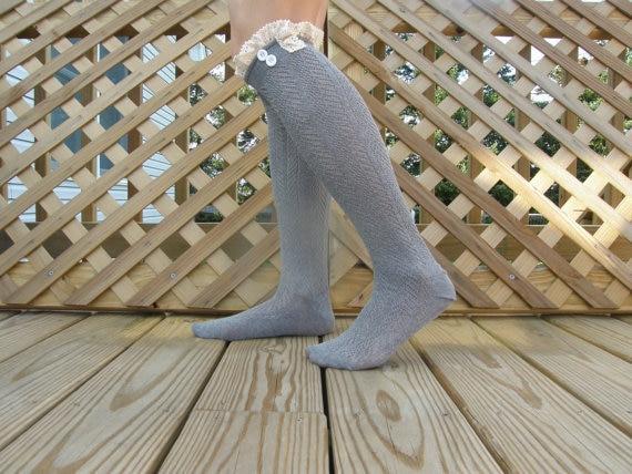 Women Lace Knit Boot Cuff crochet boot topper faux legwarmers sock tops knit leg warmers boot warmers