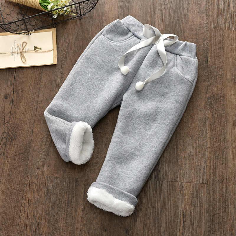 Kız tozluk kalın giysiler erkek pantolon çocuk kış pantolonları pantolon kız legging çocuklar kış 3 renkler