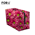 Purple White Beacty Floral luxurl Cosmetic Case for Travel Organizer Makeup Bag Necessaire de viagem Toiletry Bag Makeup Forever