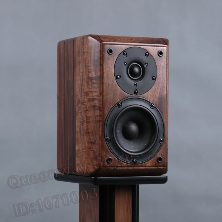 Queenway 5-inches vifa NE149-08+ Scan-speak 9500 ebony bookcase speaker front speaker Black walnut solid wood DIY