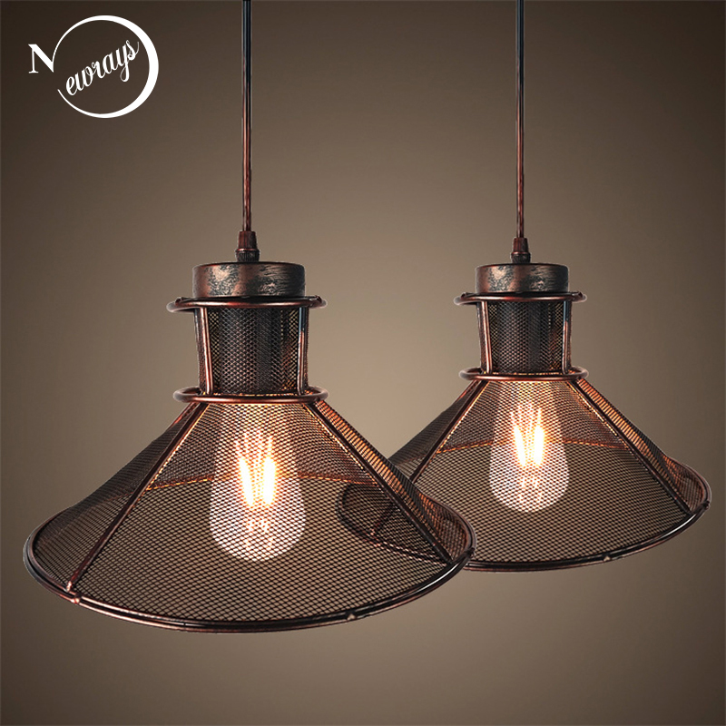 Illuminating Kitchen Lighting: Loft Modern American Style Umbrella Grid Iron Pendant