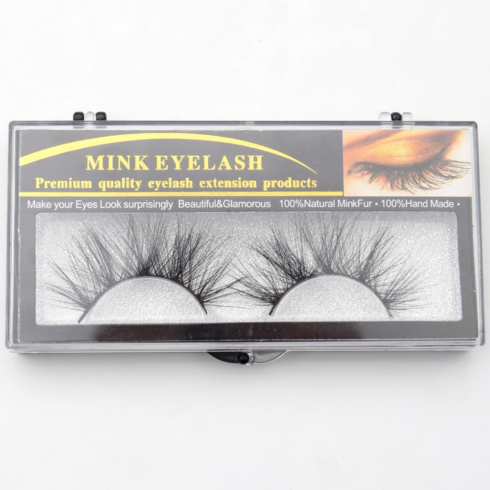 Generic 25mm Lashes Mink Eyelashes 3D Mink Strip Eyelashes