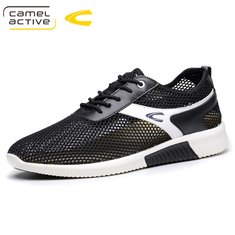 Camel Active Summer 2018 New Fashion Popular Lace Up Breathable Mixed <font><b>Material</b></font> Light Thick <font><b>EVA</b></font> Sole Men's Casual <font><b>Shoes</b></font> 18061 image