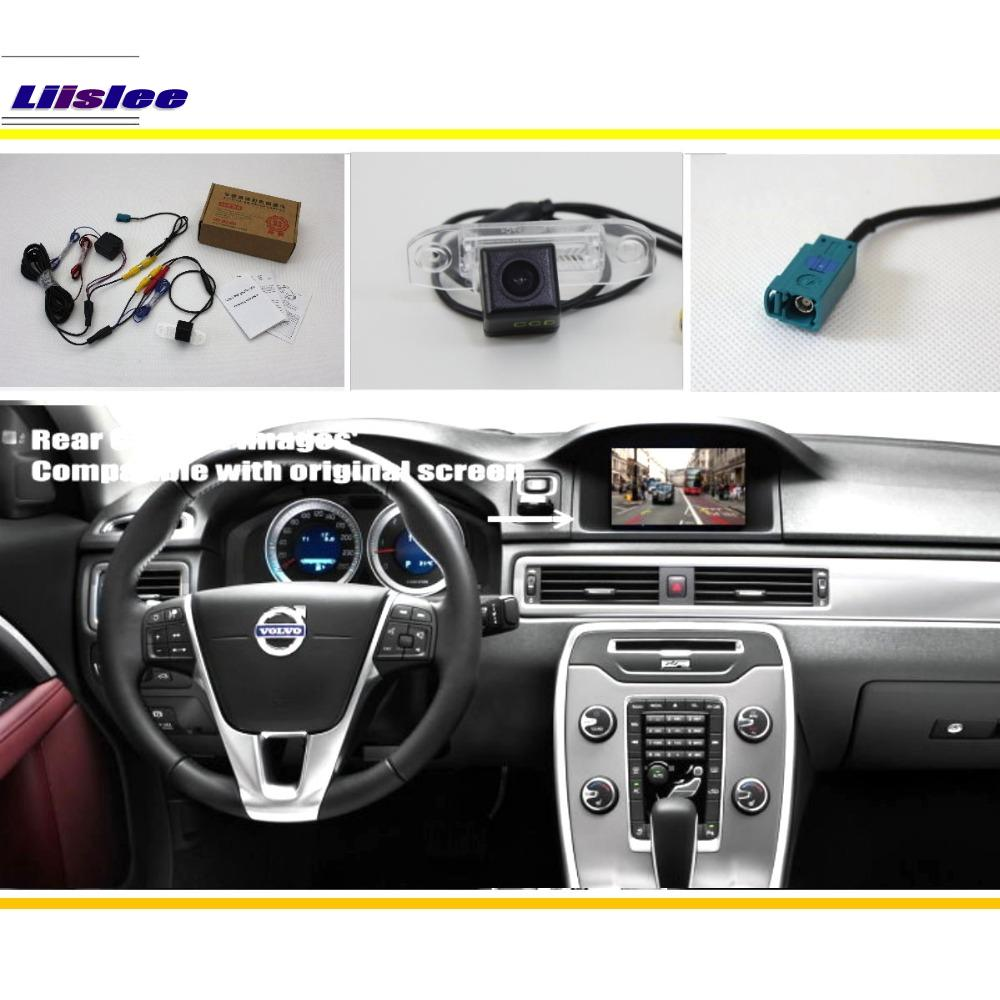 Liislee Car Rear View Reverse Camera Sets HD Night Vision RCA Original Screen Compatible For Volvo