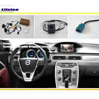 Ensembles de caméra de recul Liislee Car/Vision nocturne HD/Compatible RCA et écran d'origine/pour Volvo V70 XC70 2007 ~ 2013