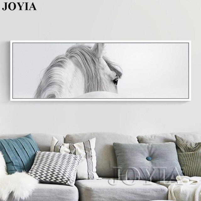 Charmant Große Größe Pferd Malerei Abstrakte Weiße Pferde Wandkunst Leinwand Bild  Minimalistischen Tier Poster Für Wohnzimmer Schlafzimmer