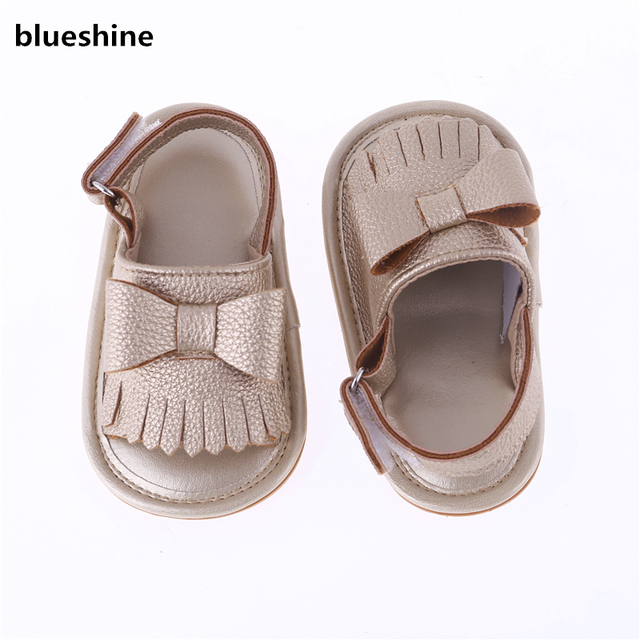 0419402c6 2018 de moda con flecos recién nacido suave suela Zapatos de Bebe Zapatos  primera caminantes.