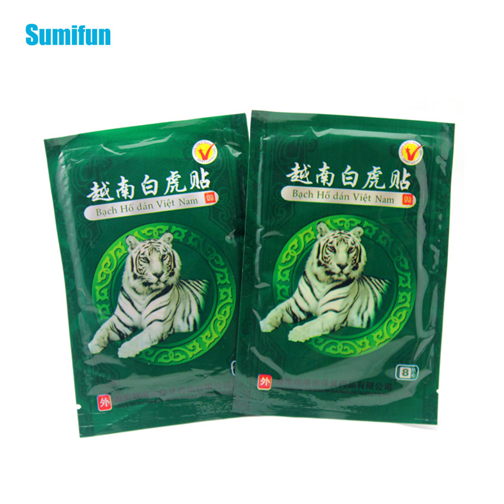 48Pcs Chinese Medical Plaster White Tiger Pain Relief Patch Muscles Pain Patch Help Sleep Body Massager Health Care D0627