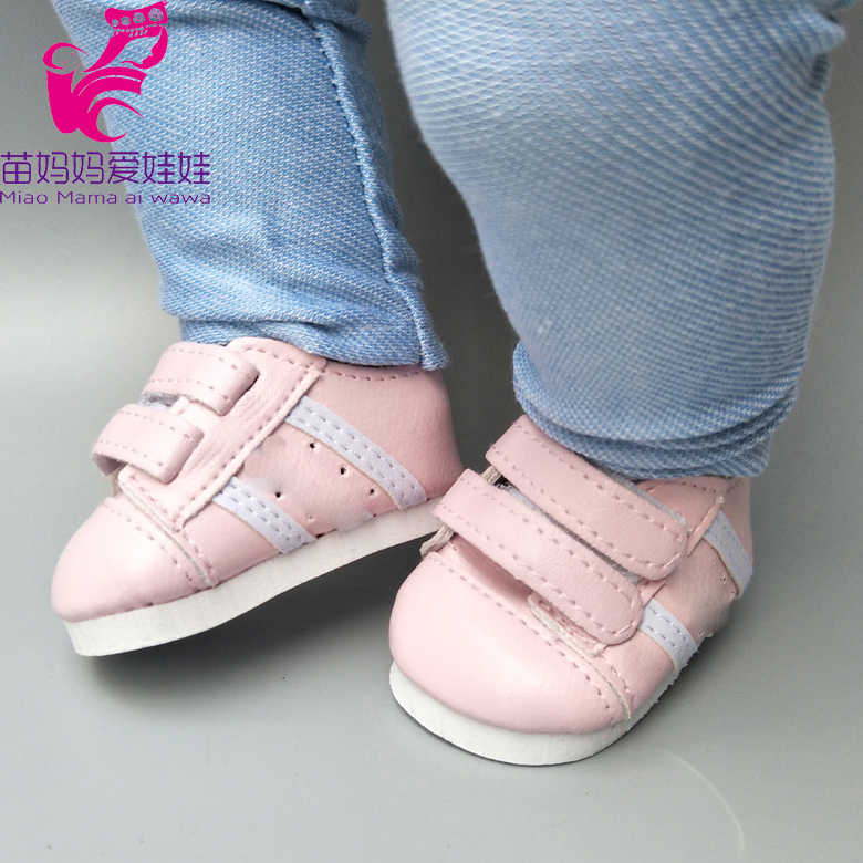 7cm doll shoes for 43cm born baby Doll Shoes sneackers fit For 18 inch Doll shoes Toy Boots Doll Accessories
