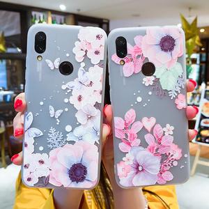 Image 1 - Soft TPU Phone Cases For Xiaomi 9 Case For Xiaomi Mi5S Mi5X Mi6 Mi6X Mi8 8SE 8Lite Relief Floral Phone Covers For Pocophone F1