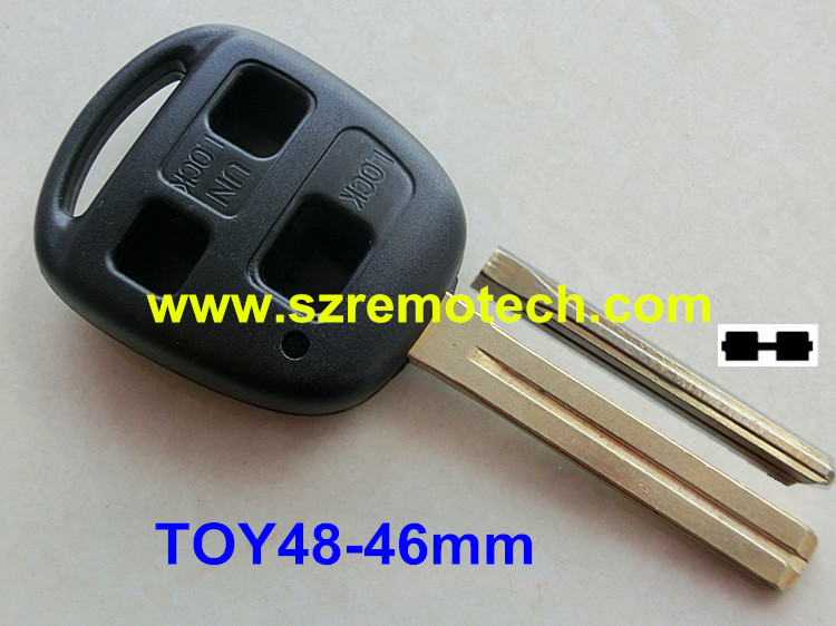 RMLKS Replacement 3 Button Remote Key Fob Shell Blank Fit For Lexus GX470 RX350 ES300 RX300