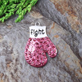 Free Shipping 10Pcs/Lot Chunky Necklace Pendant Jewelry Making Material Gloves Pendant Breast Cancer Pendant