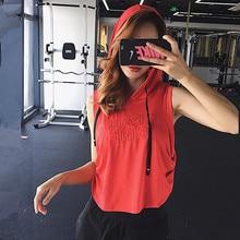 Mermaid Curve Summer Letter Sleeveless Hooded Sports Top Running Vests Gym Women Yoga Tank Top Mesh Quick Dry Women Yoga Shirt