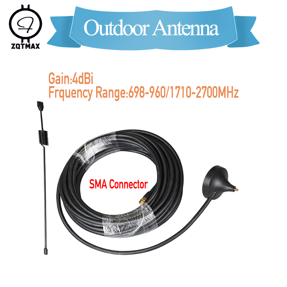 ZQTMAX 900 1800 2100 Small Suction Cup Antenna 4dbi Gsm 3g Dcs GPRS Antenna For Cell Phone Signal Booster With 10m Cable