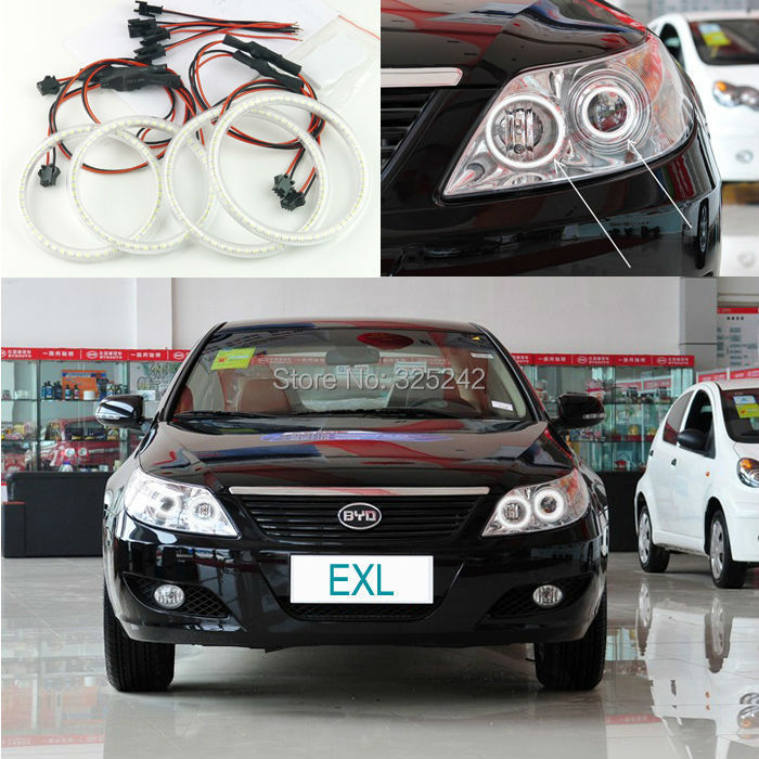 For BYD F6 2008 2009 2010 2011 Excellent led angel eyes Ultra bright illumination smd led Angel Eyes Halo Ring kit for alfa romeo 147 2005 2006 2007 2008 2009 2010 excellent angel eyes ultra bright illumination smd led angel eyes halo ring kit