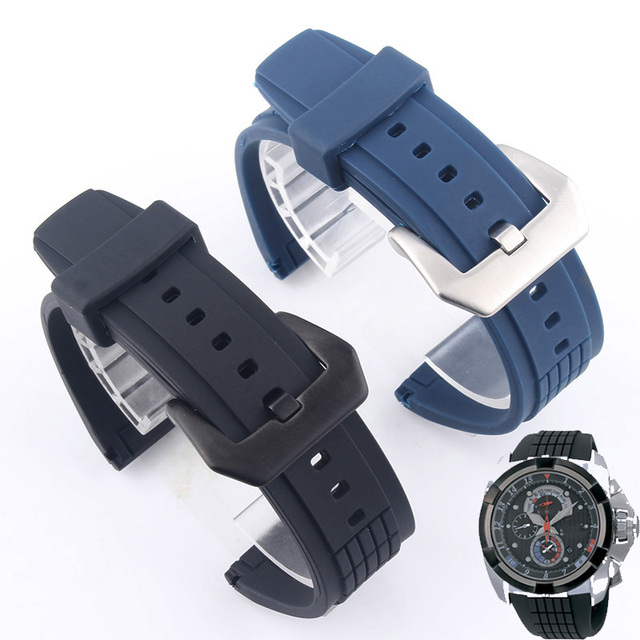 BRETA watchbands FOR SEIKO VELATURA SPC007J1 Waterproof Sports Silicone Watch wi