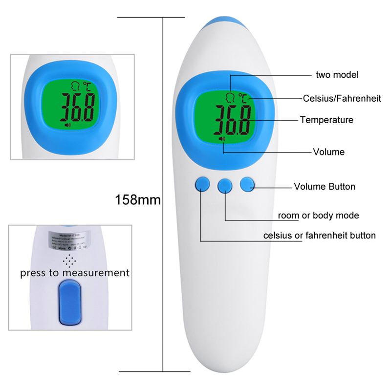 Digital Forehead Thermometer, Infrared Medical Thermometer with FDA Approval and Clinical Accuracy, Non Contact Body Thermomet