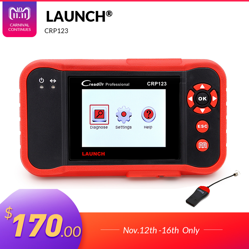 все цены на Launch X431 CRP123 obd2 code reader Scanner test Engine/ABS/SRS/AT X-431 CRP 123 Auto Diagnostic Tool free update creader vii+ онлайн