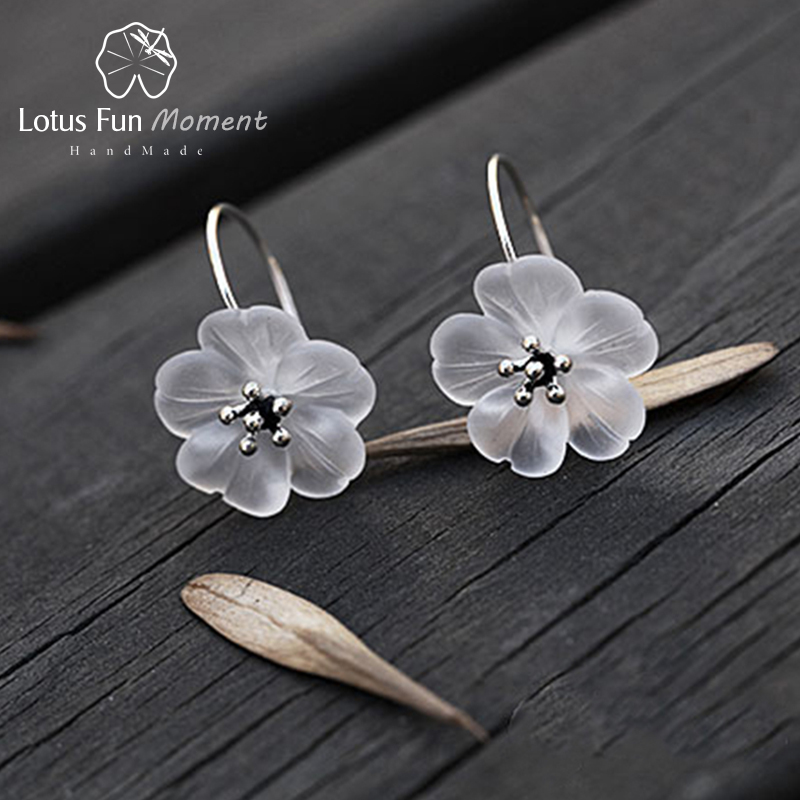 все цены на Lotus Fun Moment Real 925 Sterling Silver Natural Designer Fashion Jewelry Flower in the Rain Fashion Drop Earrings for Women онлайн