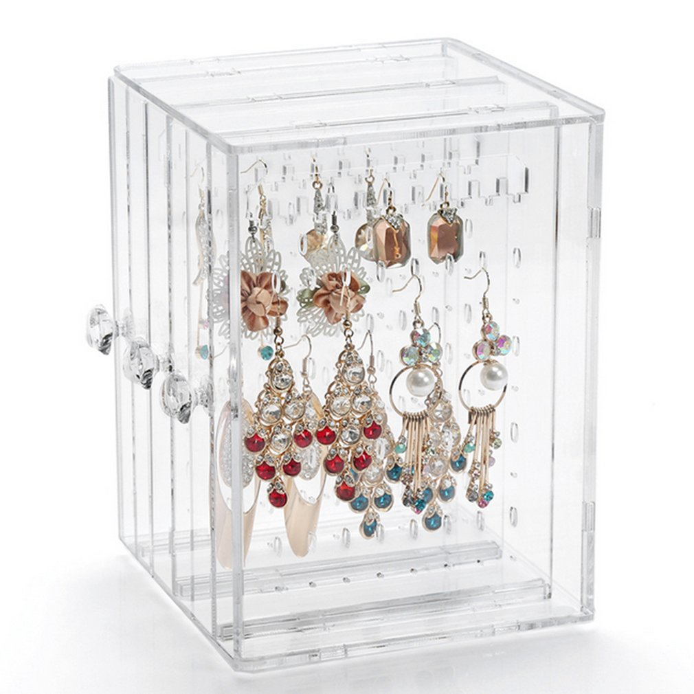 Transparent Women Jewelry Display Shelf Practical Earrings Storage Holder Jewelry Display Stand Rack Desk storage display 4pcs transparent stand display holder for barbie dolls accessiore stand gift toy es032
