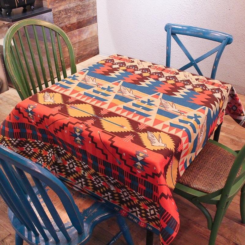 New Rectangular Tablecloth American Vintage Cotton Linen