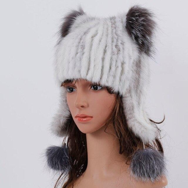 2017 modelos de explosión de la moda de piel de visón sombrero del ...