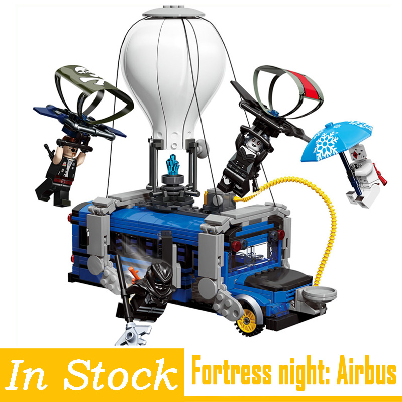 Fortress Night blocks toys airbus mini movable building bricks figures Christmas gifts for children kids fortnighting model toys 1