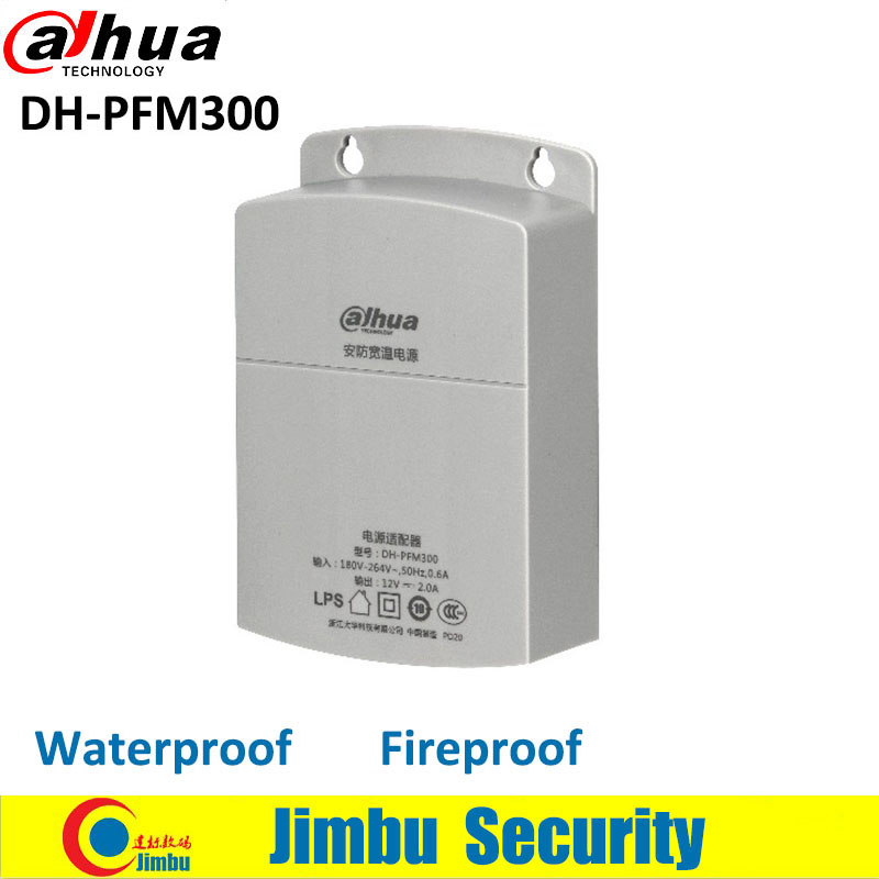 Original Dahua CCTV Adapter Waterproof Outdoor DH-PFM300 Power Supply Output 12V 2A Input 180~260V Power Switch for cctv camera original pfm 42v1 power supply board pkg 4014 ktmb05