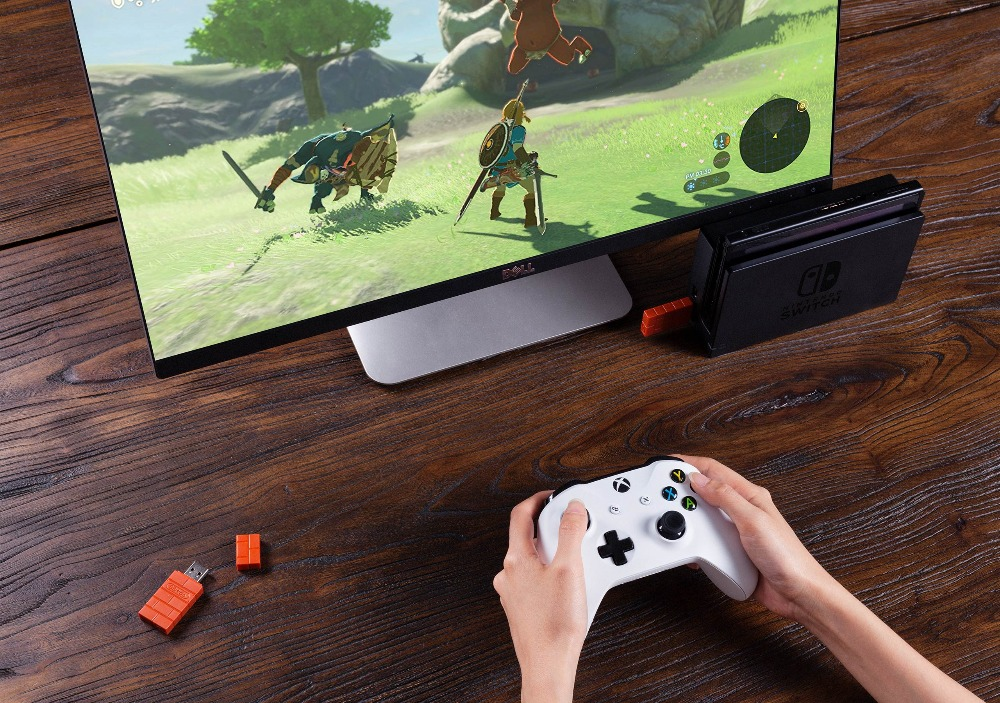 8BitDo USB Wireless Bluetooth Adapter for Windows Mac Raspberry Pi Nintendo Switch Support PS3 Xbox one Controller for Switch 11