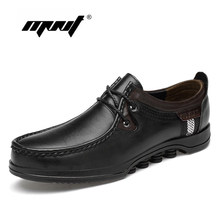 Full Grain Leather Lace Up Men Shoes Handmade Top Quality Rubber Sole Flats Breathable Plus Size Casual
