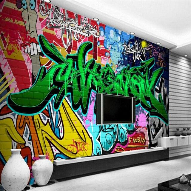 Beibehang 3d Wallpaper Street Grafiti 3d Ruang Tamu Anak Anak Komik