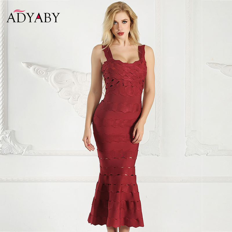 Slim Bandage Dress Summer 2019 New Arrival Fashion Party Long Dress Sexy Spaghetti Strap Hollow Out