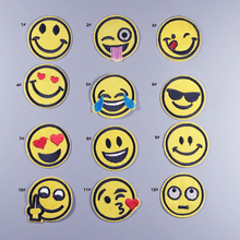 sticker gallery smile face Expression Iron On Embroidered Patches Clothes  Cartoon Badge patch Garment Appliques DIY f9a3a004c9ba