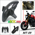 Free shipping for Yamaha FZ-09/MT-09 FZ 09 MT 09 FZ09 2014 2015 2016 Carbon Fiber Front Fender, Twill, 100%  Mud mask before