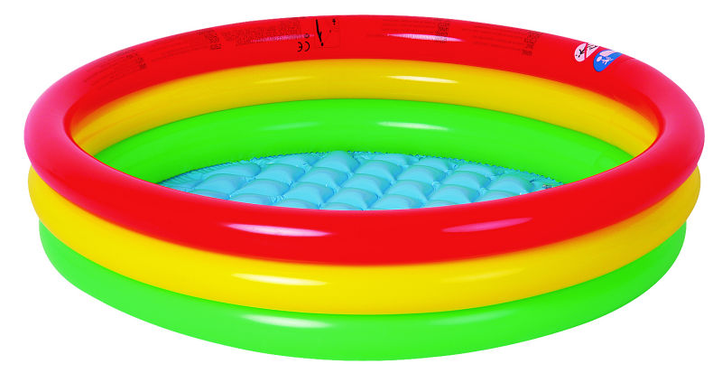 Free shipping! 114x25cm Round Shape 3 rings flatable Baby pool,kids pool inflatable kids summer water playing pool (114cmx25cm)