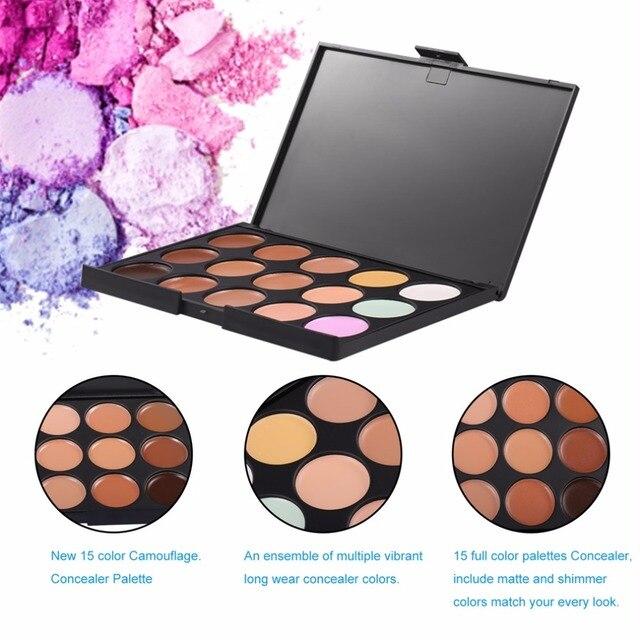 Naturel professionnel 15 couleurs visage correcteur correcteur soin du visage Camouflage maquillage outil cosmétique crème Contour Palette