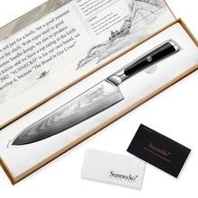 Профессиональный нож шеф-повара SUNNECKO, 8 дюймов, дамасская сталь, японский нож VG10, лезвие для бритвы, острые кухонные ножи G10, нож для резки мяса с ручкой