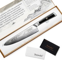 SUNNECKO Professional 8 Damascus Steel Chef Knife Japanese VG10 Core Blade Razor Sharp Kitchen Knives G10 Handle Meat Slicer