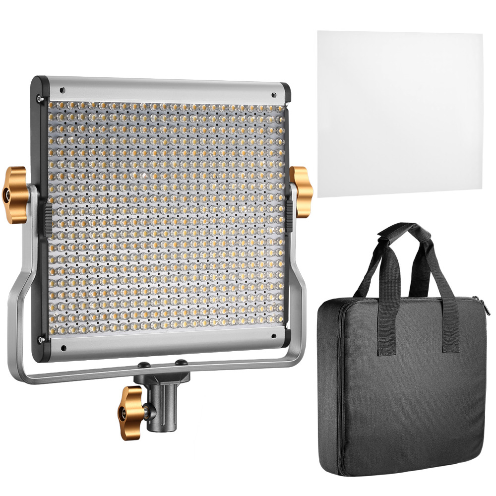 Neewer Dimmable Bi-color LED with U Bracket Professional Video Light for Studio/YouTube Outdoor Photography Lighting Kit UK Plug new godox 308c bi color dimmable 5500k 3300k led video led video studio light lamp professional video light with remote control